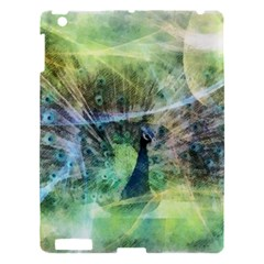 Digitally Painted Abstract Style Watercolour Painting Of A Peacock Apple iPad 3/4 Hardshell Case