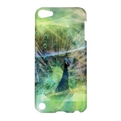 Digitally Painted Abstract Style Watercolour Painting Of A Peacock Apple Ipod Touch 5 Hardshell Case