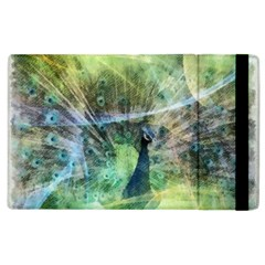 Digitally Painted Abstract Style Watercolour Painting Of A Peacock Apple Ipad 2 Flip Case