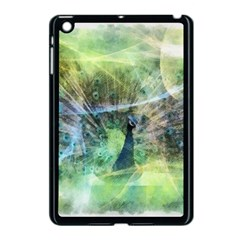 Digitally Painted Abstract Style Watercolour Painting Of A Peacock Apple iPad Mini Case (Black)