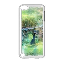 Digitally Painted Abstract Style Watercolour Painting Of A Peacock Apple iPod Touch 5 Case (White)