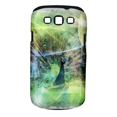 Digitally Painted Abstract Style Watercolour Painting Of A Peacock Samsung Galaxy S III Classic Hardshell Case (PC+Silicone)
