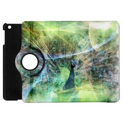 Digitally Painted Abstract Style Watercolour Painting Of A Peacock Apple iPad Mini Flip 360 Case
