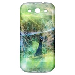 Digitally Painted Abstract Style Watercolour Painting Of A Peacock Samsung Galaxy S3 S III Classic Hardshell Back Case