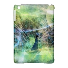 Digitally Painted Abstract Style Watercolour Painting Of A Peacock Apple iPad Mini Hardshell Case (Compatible with Smart Cover)