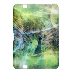 Digitally Painted Abstract Style Watercolour Painting Of A Peacock Kindle Fire HD 8.9