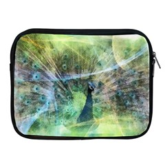 Digitally Painted Abstract Style Watercolour Painting Of A Peacock Apple iPad 2/3/4 Zipper Cases