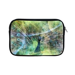 Digitally Painted Abstract Style Watercolour Painting Of A Peacock Apple Ipad Mini Zipper Cases