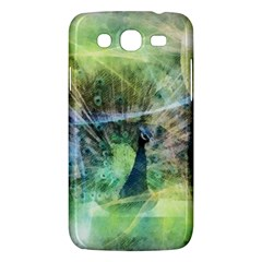 Digitally Painted Abstract Style Watercolour Painting Of A Peacock Samsung Galaxy Mega 5.8 I9152 Hardshell Case