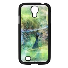 Digitally Painted Abstract Style Watercolour Painting Of A Peacock Samsung Galaxy S4 I9500/ I9505 Case (Black)