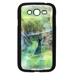 Digitally Painted Abstract Style Watercolour Painting Of A Peacock Samsung Galaxy Grand Duos I9082 Case (black)