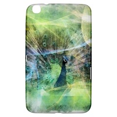 Digitally Painted Abstract Style Watercolour Painting Of A Peacock Samsung Galaxy Tab 3 (8 ) T3100 Hardshell Case