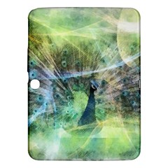Digitally Painted Abstract Style Watercolour Painting Of A Peacock Samsung Galaxy Tab 3 (10.1 ) P5200 Hardshell Case