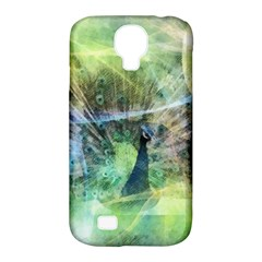 Digitally Painted Abstract Style Watercolour Painting Of A Peacock Samsung Galaxy S4 Classic Hardshell Case (PC+Silicone)