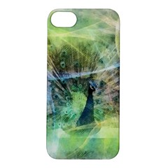 Digitally Painted Abstract Style Watercolour Painting Of A Peacock Apple iPhone 5S/ SE Hardshell Case
