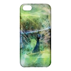 Digitally Painted Abstract Style Watercolour Painting Of A Peacock Apple iPhone 5C Hardshell Case
