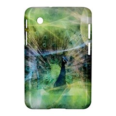 Digitally Painted Abstract Style Watercolour Painting Of A Peacock Samsung Galaxy Tab 2 (7 ) P3100 Hardshell Case
