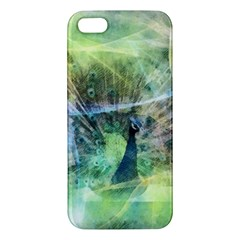 Digitally Painted Abstract Style Watercolour Painting Of A Peacock iPhone 5S/ SE Premium Hardshell Case