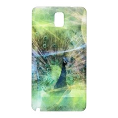 Digitally Painted Abstract Style Watercolour Painting Of A Peacock Samsung Galaxy Note 3 N9005 Hardshell Back Case