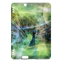 Digitally Painted Abstract Style Watercolour Painting Of A Peacock Kindle Fire HDX Hardshell Case