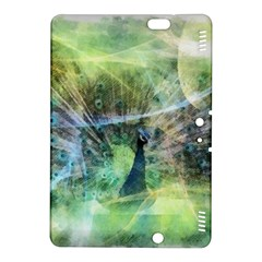 Digitally Painted Abstract Style Watercolour Painting Of A Peacock Kindle Fire HDX 8.9  Hardshell Case