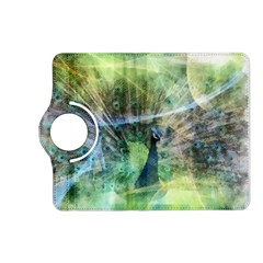 Digitally Painted Abstract Style Watercolour Painting Of A Peacock Kindle Fire HD (2013) Flip 360 Case