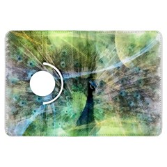 Digitally Painted Abstract Style Watercolour Painting Of A Peacock Kindle Fire HDX Flip 360 Case