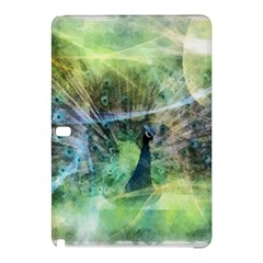 Digitally Painted Abstract Style Watercolour Painting Of A Peacock Samsung Galaxy Tab Pro 10.1 Hardshell Case