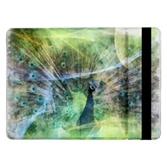 Digitally Painted Abstract Style Watercolour Painting Of A Peacock Samsung Galaxy Tab Pro 12.2  Flip Case