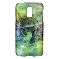 Digitally Painted Abstract Style Watercolour Painting Of A Peacock Galaxy S5 Mini