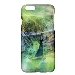 Digitally Painted Abstract Style Watercolour Painting Of A Peacock Apple iPhone 6 Plus/6S Plus Hardshell Case
