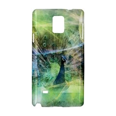 Digitally Painted Abstract Style Watercolour Painting Of A Peacock Samsung Galaxy Note 4 Hardshell Case