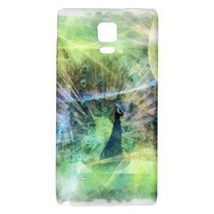 Digitally Painted Abstract Style Watercolour Painting Of A Peacock Galaxy Note 4 Back Case