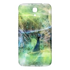 Digitally Painted Abstract Style Watercolour Painting Of A Peacock Samsung Galaxy Mega I9200 Hardshell Back Case