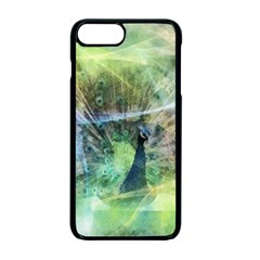Digitally Painted Abstract Style Watercolour Painting Of A Peacock Apple Iphone 7 Plus Seamless Case (black)