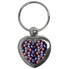 Cute Birds Pattern Key Chains (heart)