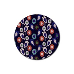 Cute Birds Pattern Rubber Coaster (Round)