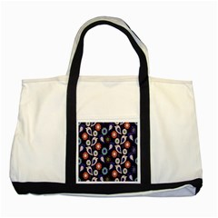 Cute Birds Pattern Two Tone Tote Bag