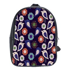 Cute Birds Pattern School Bags(Large)
