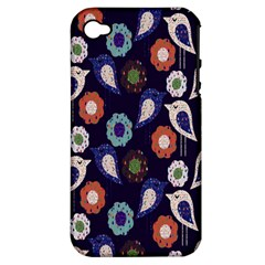 Cute Birds Pattern Apple iPhone 4/4S Hardshell Case (PC+Silicone)