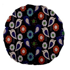 Cute Birds Pattern Large 18  Premium Round Cushions