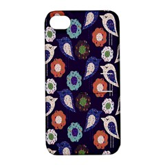 Cute Birds Pattern Apple iPhone 4/4S Hardshell Case with Stand