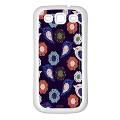 Cute Birds Pattern Samsung Galaxy S3 Back Case (White)