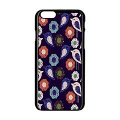 Cute Birds Pattern Apple iPhone 6/6S Black Enamel Case