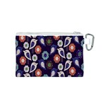 Cute Birds Pattern Canvas Cosmetic Bag (S) Back
