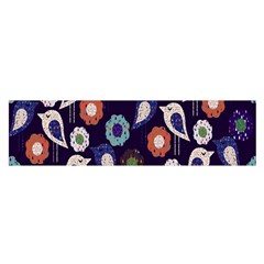 Cute Birds Pattern Satin Scarf (oblong)