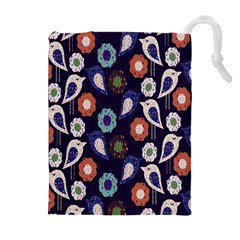 Cute Birds Pattern Drawstring Pouches (extra Large)