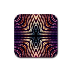 Colorful Seamless Vibrant Pattern Rubber Coaster (Square)