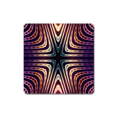 Colorful Seamless Vibrant Pattern Square Magnet
