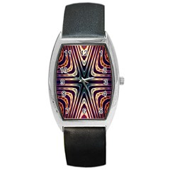 Colorful Seamless Vibrant Pattern Barrel Style Metal Watch